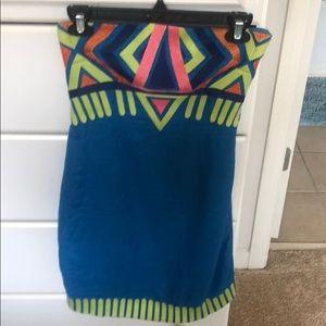 Mara Hoffman strapless Aztec dress